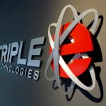 Triple E Technologies Logo Lobby Sign