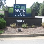 River Club Large Monument Sign