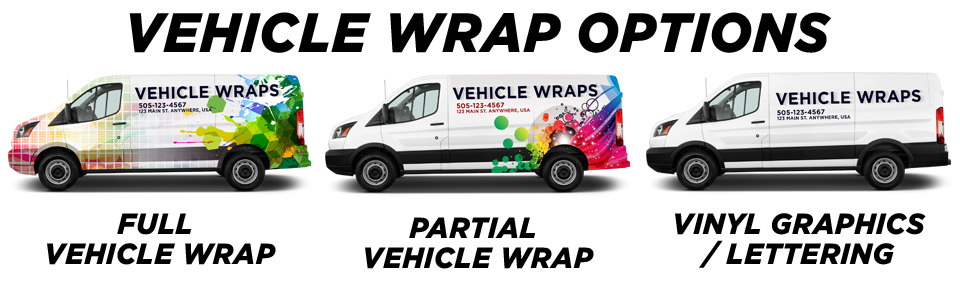 Rogers Vehicle Wraps vehicle wrap options